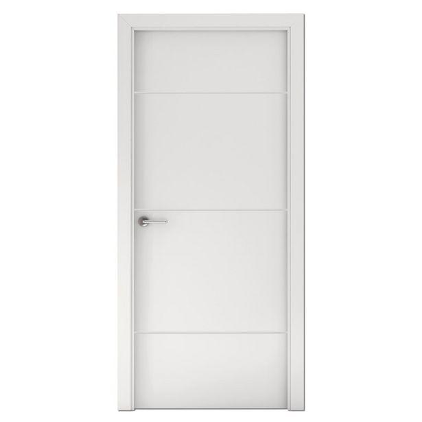 Oferta de Puerta Capri lacada blanca derecha 203 x 62,5 cm por 99,95€