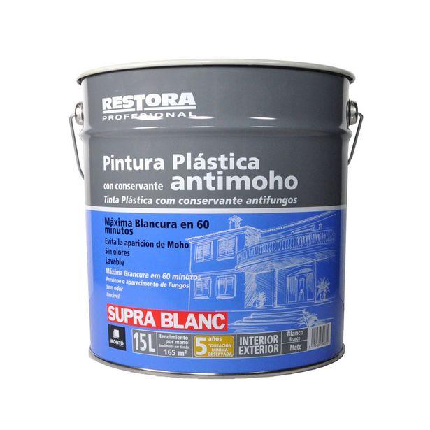 Oferta de RESTORA ANTIMOHO PINTURA PLÁSTICA BLANCA MATE 15 L por 29,95€
