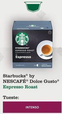 Oferta de Café starbucks por