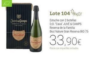 Oferta de Lote 104 por 33,9€