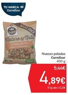Oferta de Nueces pelasdas Carrefour  por 4,89€