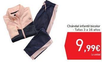 Oferta de Chándal infantil bicolor  por 9,99€