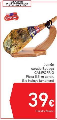 Oferta de Jamón curado Bodega CAMPOFRÍO por 39€