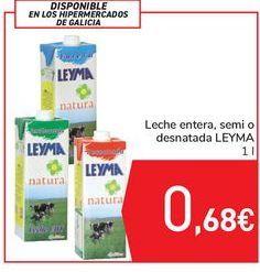 Oferta de Leche entera, semi o desnatada LEYMA por 0,68€