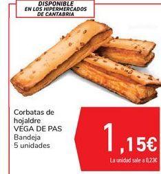 Oferta de Corbatas de hojaldre VEGA DE PAS por 1,15€