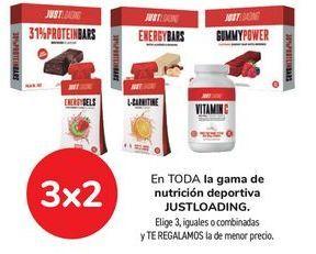 Oferta de En TODA la gama de nutrición deportiva JUSTLOADING por