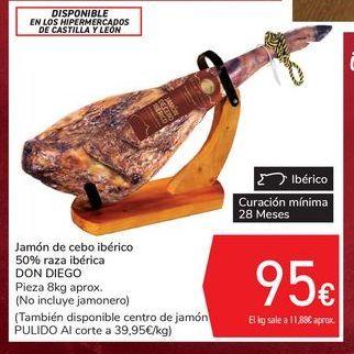 Oferta de Jamón de cebo ibérico 50% raza ibérica DON DIEGO por 95€