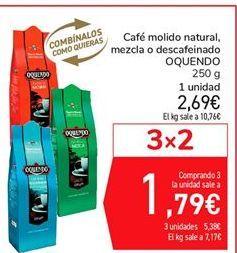 Oferta de Café molido natural, mezcla o descafeinado OQUENDO por 2,69€