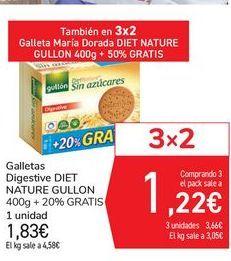 Oferta de Galletas Digestive DIET NATURE GULLON por 1,83€