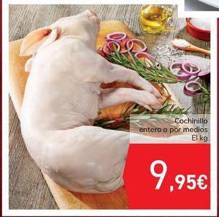 Oferta de Cochinillo entero o por medios por 9,95€