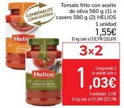 Oferta de Tomate frito con aceite de oliva o casero HELIOS por 1,55€