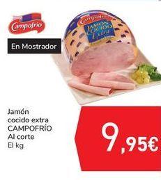 Oferta de Jamón cocido extra CAMPOFRÍO por 9,95€