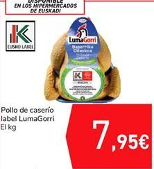 Oferta de Pollo de caserío label LUMA GORRI por 7,95€