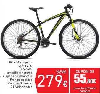 Oferta de Bicicleta esperia 29'' TY30 por 279€