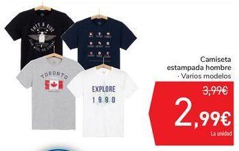 Oferta de Camiseta estampada hombre  por 2,99€