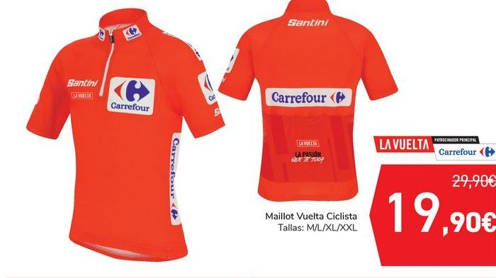 Oferta de Maillot Vuelta Ciclista  por 19,9€