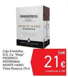 "Oferta de Caja 6 botellas D.O. Ca. ""Rioja"" FEDERICO PATERNINA MONTE HARO por 21€"