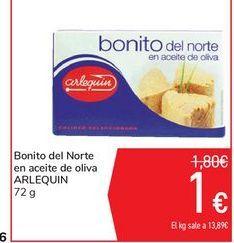 Oferta de Bonito del Norte en aceite de oliva ARLEQUIN por 1€
