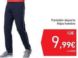 Oferta de Pantalón deporte felpa hombre por 9,99€