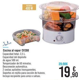 Oferta de Cocina al vapor CV200 Jata  por 19,9€