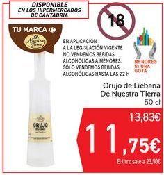 Oferta de Orujo de Liebana De Nuestra Tierra por 11,75€