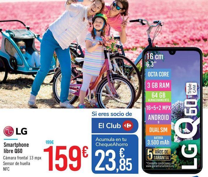 Oferta de Smartphone libre Q60 LG por 159€