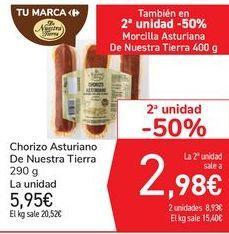 Oferta de Chorizo Asturiano De Nuestra Tierra por 5,95€