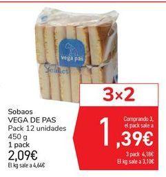Oferta de Sobaos VEGA DE PAS por 2,09€