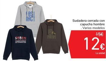 Oferta de Sudadera cerrada con capucha hombre por 12€