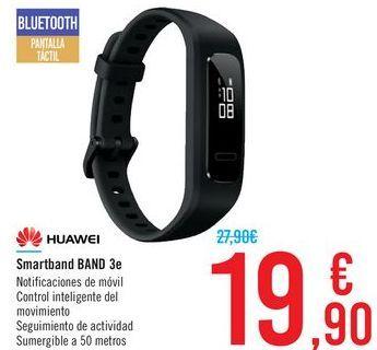 Oferta de Smartband BAND 3e HUAWEI por 19,9€