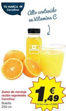 Oferta de Zumo de naranja recién exprimido Carrefour por 1,49€