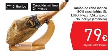 Oferta de Jamón de cebo ibérico 50% raza ibérica EL LUJO por 79€