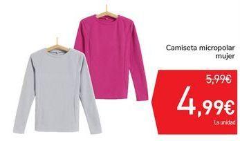 Oferta de Camiseta micropolar mujer por 4,99€