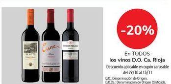 Oferta de En TODOS los vinos D.O. Ca. Rioja por