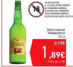 Oferta de Sidra natural TRABANCO por 1,89€