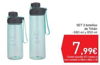 Oferta de Set 2 botellas de Tritán  por 7,99€