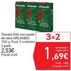 Oferta de Tomate frito con aceite de oliva ORLANDO por 2,53€