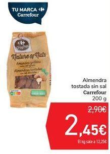 Oferta de Almendra tostada sin sal Carrefour  por 2,45€