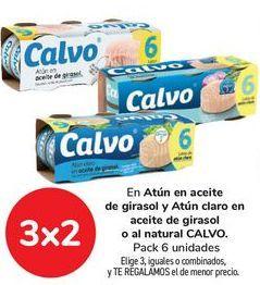Oferta de En Atún en aceite de girasol y Atún claro en aceite de girasol o al natural CALVO por