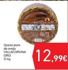 Oferta de Queso puro de oveja VILLACORONA ORO por 12,99€