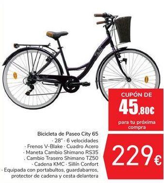 Oferta de Bicicleta de Paseo City 65  por 229€