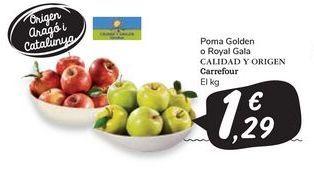 Oferta de Manzana golden o royal gala, carrefour por 1,29€