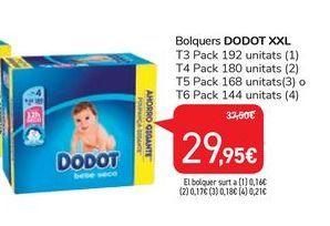 Oferta de Pañales Dodot XXL por 29,95€
