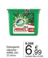 Oferta de Detergente cápsulas ARIEL Oxi por 6,99€
