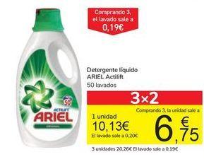 Oferta de Detergente líquido ARIEL Actilif por 10,13€