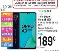 Oferta de Smartphone libre A9 2020 por 189€
