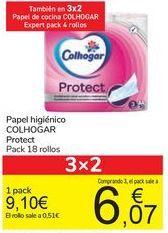 Oferta de Papel higiénico COLHOGAR Protect por 9,1€