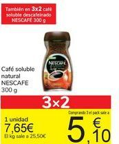 Oferta de Café soluble natural NESCAFE por 7,65€