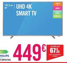 Oferta de TV 58PUS7555 por 449€