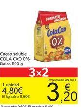 Oferta de Cacao soluble COLA CAO 0% por 4,8€